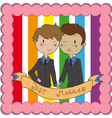 male gay marriage vector image vector image