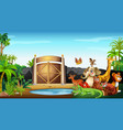many wild animals at park vector image vector image