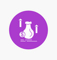 money bag dollar growth stock white glyph icon in vector image vector image