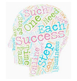 Multiple Steps To Success text background vector image vector image