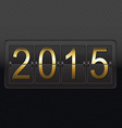 New Year Black Counter Card vector image