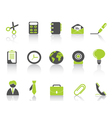 office icon green series vector image vector image