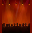 people sitting at the stage vector image