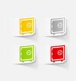 realistic design element safe vector image vector image