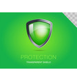 realistic metal shield with transparent armored vector image vector image