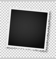 retro realistic square photo frame with figured vector image vector image