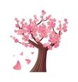 Sakura Tree Isolated Cherry Blossom vector image vector image