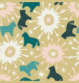 seamless pattern with the image of sweet horse vector image vector image