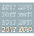 Sign elements 2017 vector image vector image