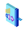 sound speaker operation isometric icon vector image vector image