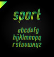 sport font square alphabet or letter set vector image