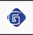 square symbol letter g design minimalist vector image vector image