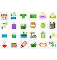 Store isolated icons set vector image vector image