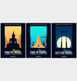 thailand time to travel set of banners vector image vector image