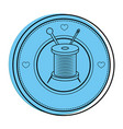 thread spool icon vector image vector image