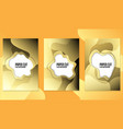 trendy poster set with dynamic colorful gradients vector image vector image