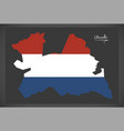 utrecht netherlands map with dutch national flag vector image vector image