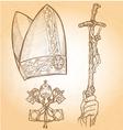 Vatican Symbols vector image vector image