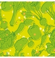 Vegetable pattern vector image