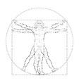 vitruvian man or homo vitruviano vector image