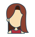 woman female avatar character vector image