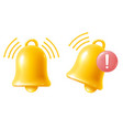 yellow bell notification sign icon