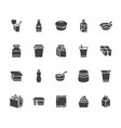 yogurt packaging flat glyph icons dairy vector image vector image