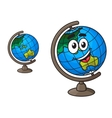 Colorful world globe with a laughing smile vector image