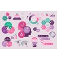 Infographic design set collection purple pink vector image