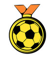 gold soccer medal icon icon cartoon vector image