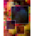 Abstract colorful rectangle background vector image