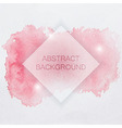 abstract watercolor background with red splash vector image vector image