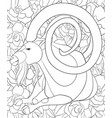 adult coloring bookpage a cute goat image for vector image