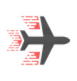 aircraft halftone dotted icon with fast rush vector image vector image