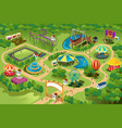 amusement park map vector image