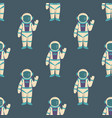 astronauts in space seamless pattern vector image vector image