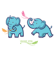 baelephant with leaves vector image