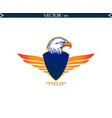 bald eagle with shield straight wings vector image vector image