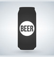 beer can icon on light background isolated vector image vector image