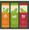bio concept design eco banners vector image vector image