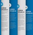 brochure page design vector image