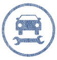car repair fabric textured icon vector image