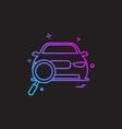 car workshop icon design vector image vector image