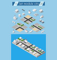 cityscape design elements vector image vector image