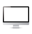 computer display screen isolated on white vector image vector image