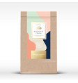 craft paper bag with pistachios chocolate label vector image vector image