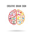 Creative brains sign vector image vector image
