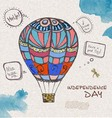 decorative sketch of balloon vector image vector image
