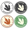 dinosaur paw with claws circle logo design concept vector image vector image