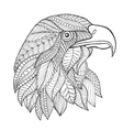 Eagle head Adult antistress coloring page vector image vector image